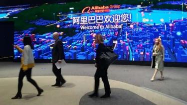Kantor pusat Alibaba di Hangzhou China.