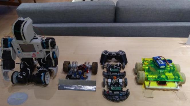 Robot buatan siswa MI Pembangunan UIN Jakarta