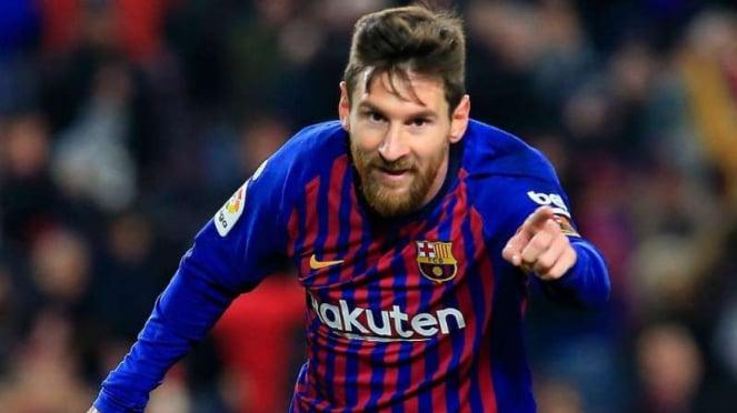 Striker Barcelona, Lionel Messi.
