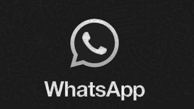 Ilustrasi mode gelap WhatsApp