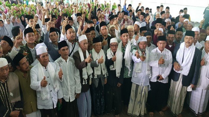 Cawapres 01 KH Maruf Amin kampanye di Padepokan silat Banten