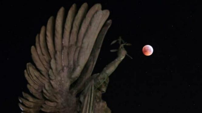 Gerhana bulan super blood wolf moon