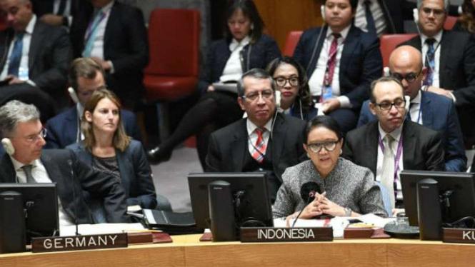 Menlu RI bicara soal Palestina di rapat DK PBB, New York