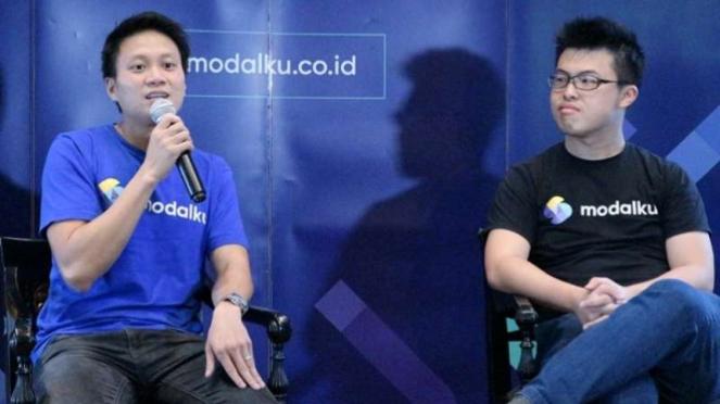 CEO Reynold Wijaya dan COO Modalku, Iwan Kurniawan.