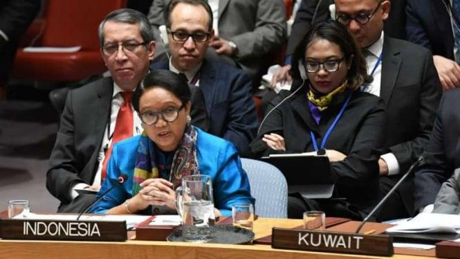 Menteri Luar Negeri Retno Marsudi memimpin delegasi RI di Sidang Dewan Keamanan PBB di New York, Amerika Serikat.