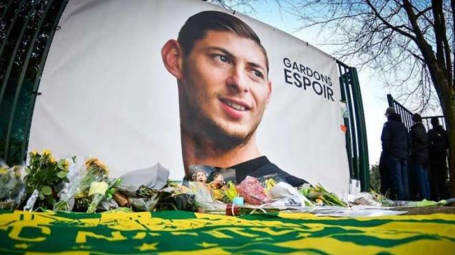 Poster Mantan Striker Nantes, Emiliano Sala.