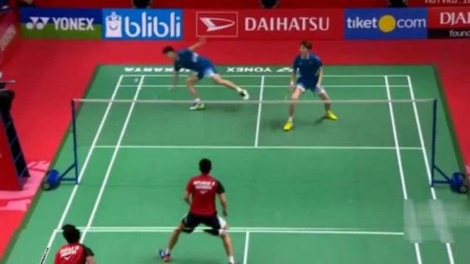 Mohammad Ahsan/Hendra Setiawan Vs Li junhui/Liu Yuchen.