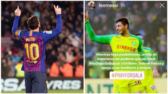 Komentar Lionel Messi soal kasus hilangnya pesawat Emiliano Sala