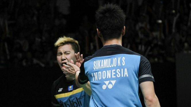 Kevin/Marcus buka keunggulan Indonesia di Piala Sudirman atas Inggris
