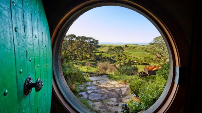 Hobbiton, Selandia Baru.