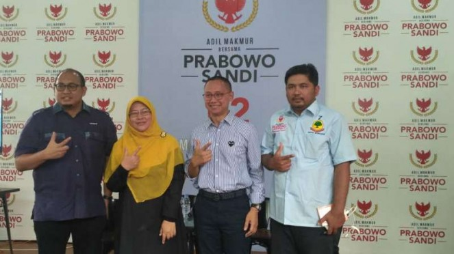Politikus Partai Gerindra Andre Rosiade, di Prabowo-Sandi Media Center.
