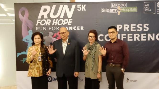 Jumpa Pers di MRCCC Siloam Hospitals Run 5K For Hope