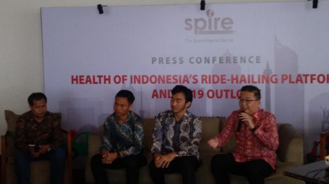 Konferensi pers Spire, Jakarta, 30 Januari 2019