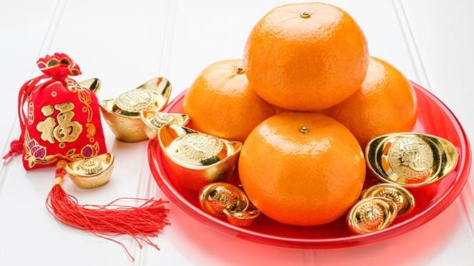 Orange atau jeruk saat Imlek di China