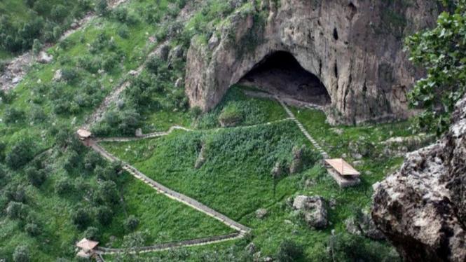 gua shanidar konon merupakan pintu masuknya