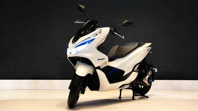 Sepeda motor Honda PCX Electric diluncurkan di Jakarta, Kamis, 31 Januari 2019.
