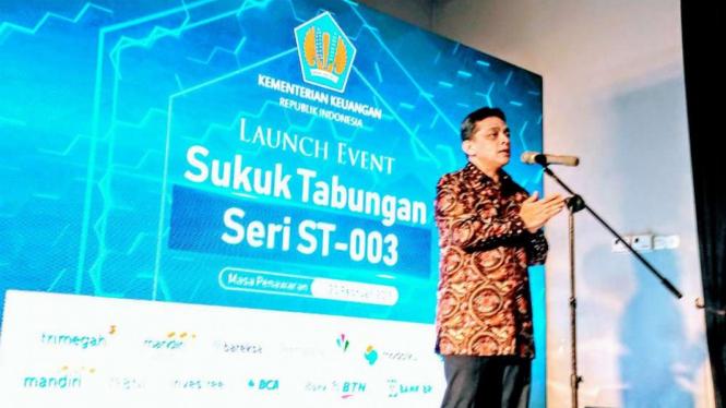 Dirjen Pengelolaan Pembiayaan dan Risiko Kementerian Keuangan, Luky Alfirman.