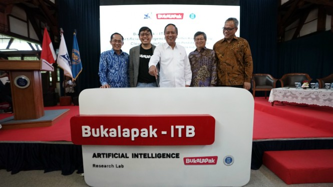 Peresmian Bukalapak-ITB Artificial Intelligence and Cloud Computing.