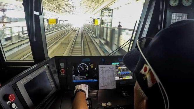 Kabin masinis MRT Jakarta