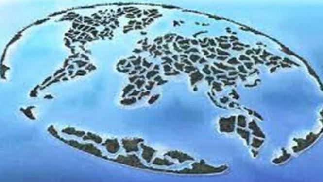 Ilustrasi pulau buatan.