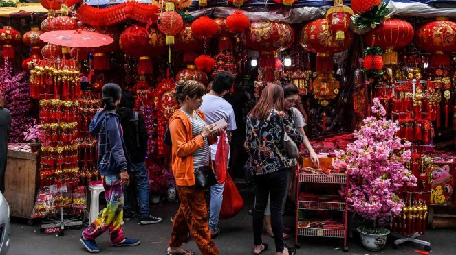 Ilustrasi foto imlek tionghoa budaya china