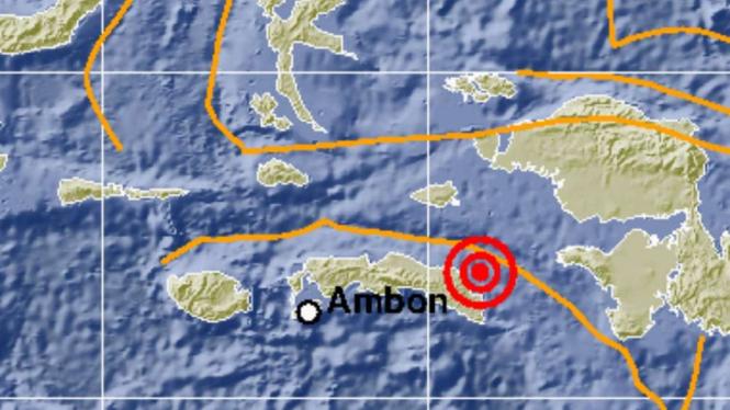 Gempa bumi 5,8 SR mengguncang Ambon, Maluku.