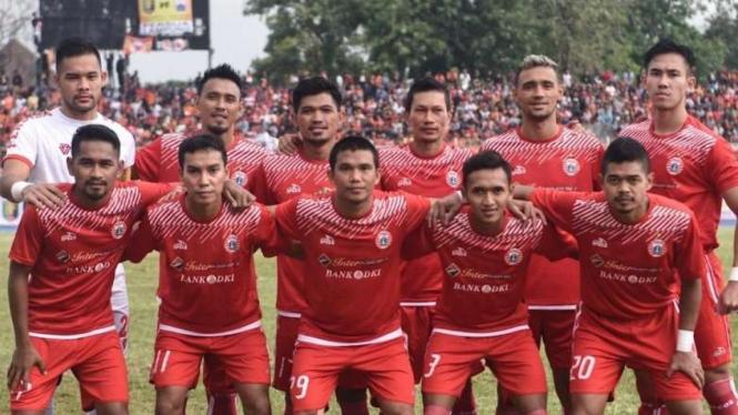 Skuat Persija Jakarta dalam laga di ajang Piala Indonesia 2018/2019