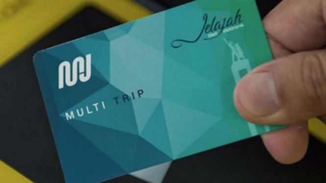 Kartu Jelajah Multi Trip MRT Jakarta.