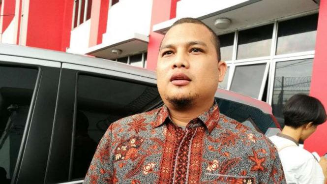 Kuasa hukum Ahmad Dhani, Ali Lubis di Cipinang, Jakarta.