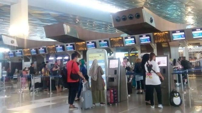 Suasana di Bandara Soekarno-Hatta, Selasa, 5 Februari 2019.