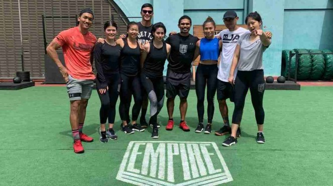 Tim workout Under Armour dan Empire Fit Club.