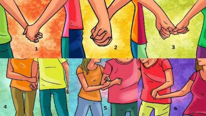 Ilustrasi pegang tangan pasangan.