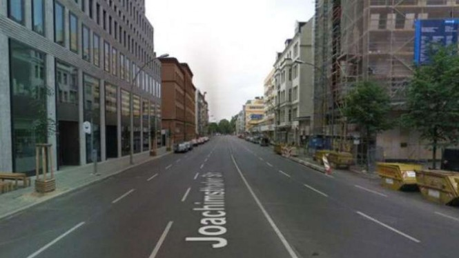 Jalan Joachimsthaler di Berlin, Jerman.