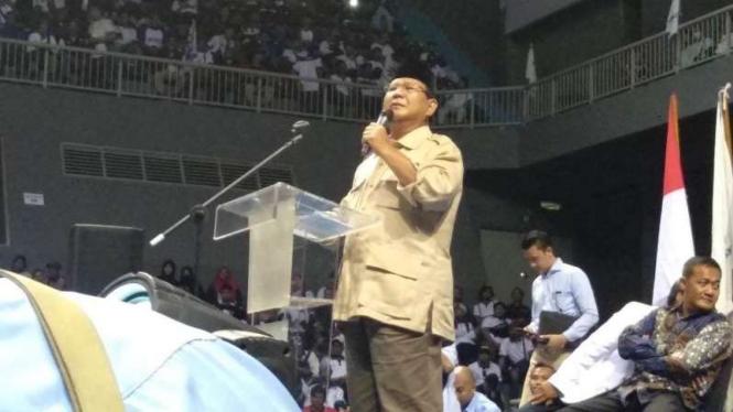 Prabowo: Kalau Pesimis Ngapain Maju, Bikin Capek