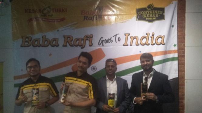 Konferensi pers Kebab Turki Baba Rafi Goes to India