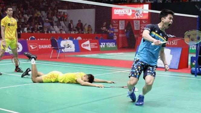 Kevin/Marcus vs Fajar/Rian di Indonesia Masters.