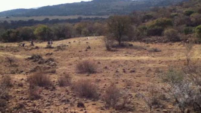 Reruntuhan kota Kweneng di Afrika Selatan.