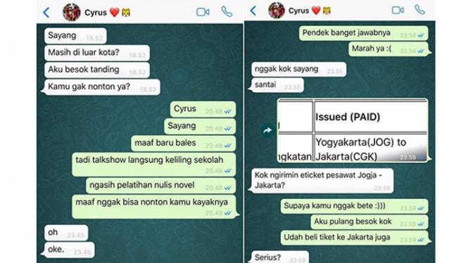 Pesan WhatsApp Gebetan