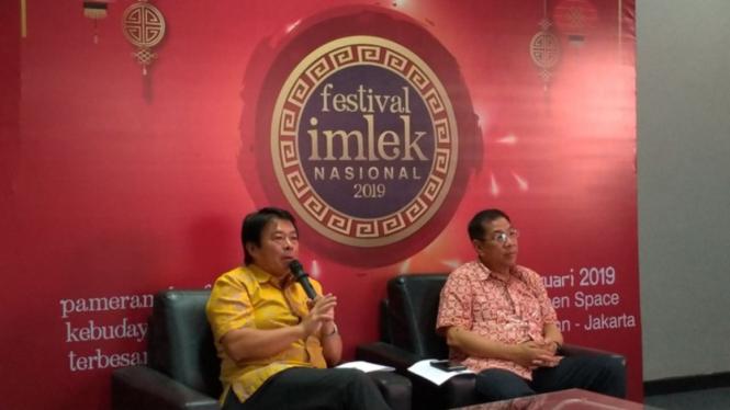 Konferensi pers Festival Imlek Nasional