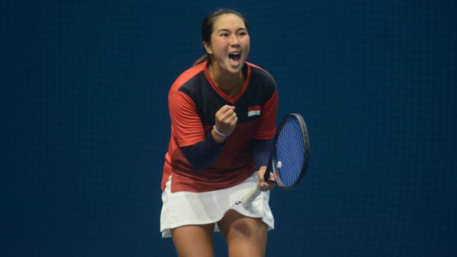 Petenis putri Indonesia, Aldila Sutjiadi raih emas SEA Games 2019