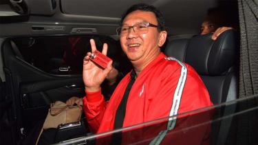 Basuki Tjahaja Purnama alias BTP berkunjung ke kantor DPD-PDIP Provinsi Bali