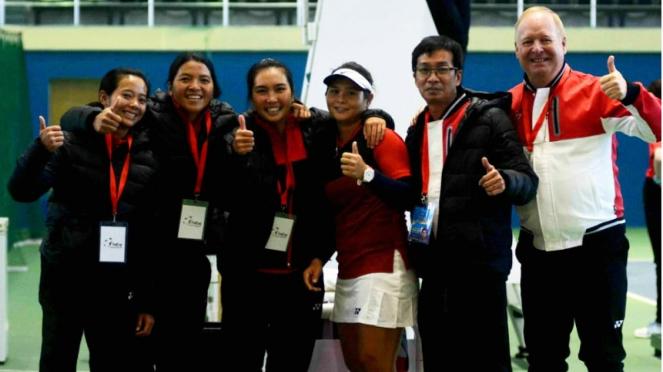Tim Piala Fed Indonesia di laga Grup I zona Asia/Oceania