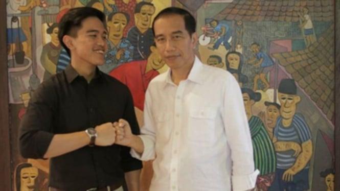 Kaesang Pangarep dan Presiden Joko Widodo
