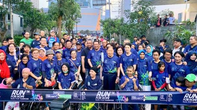 Acara Charity Run 5K 'Run for Hope', di Jakarta, Minggu (10/02/19).