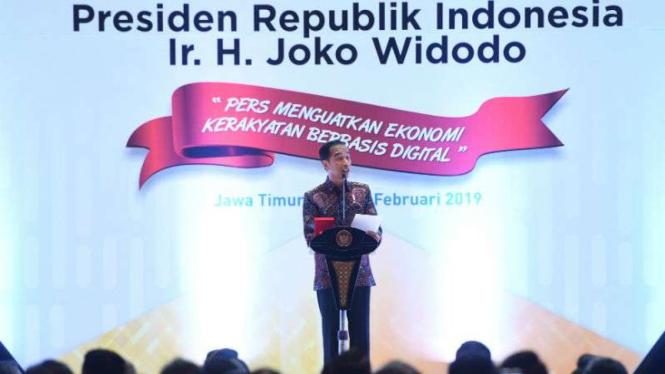 Puncak perayaan Hari Pers Nasional (HPN) di Surabaya, Jawa Timur.