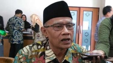 Ketua Umum Muhammadiyah, Haedar Nashir, di forum Seminar Pra-Tanwir Muhammadiyah di kampus Universitas Muhammadiyah Yogyakarta, Bantul, Senin, 11 Februari 2019.