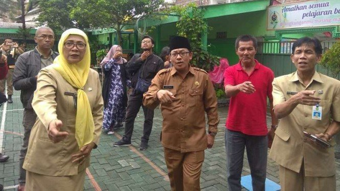 Wali Kota Malang, Sutiaji bertemu dengan Kepala Sekolah SDN Kauman 3 Kota Malang
