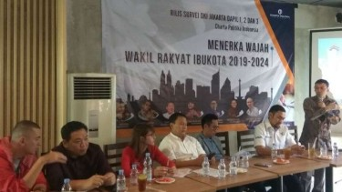 Rilis hasil survei Charta Politika Indonesia untuk dapil Jakarta.