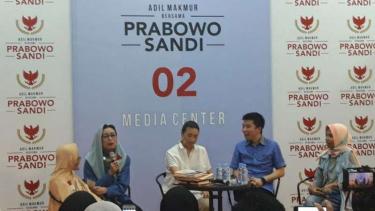 Mien Uno di Media Center Prabowo-Sandi