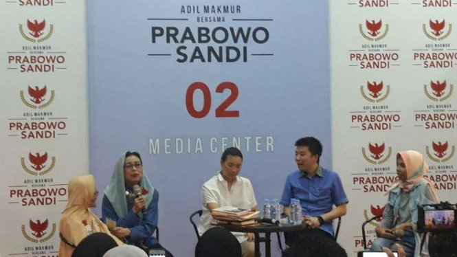 Mien Uno di Media Center Prabowo-Sandi